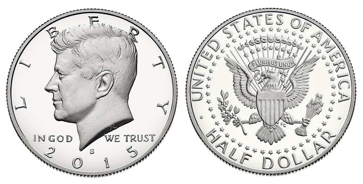 US coin kennedy half dollar