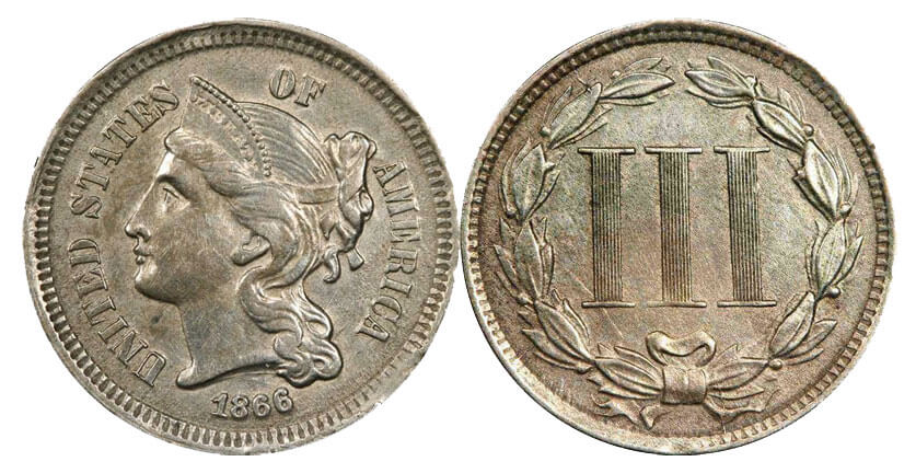 Three cent coin